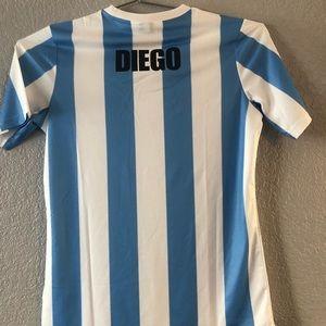 9a31972f385 Le Coq Sportif Shirts | Maradona Argentina 1986 World Cup Jersey ...